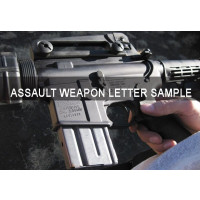 Sample Letter for purchasing  an Assault Weapon
