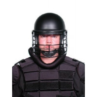 Premier Crown 906C Riot Duty Helmet w/Wire Guard Face Shield